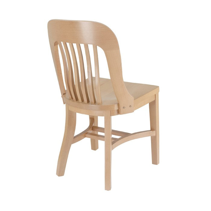 Jury side chair with wood saddle seat restaurant wood for Table 66 jury