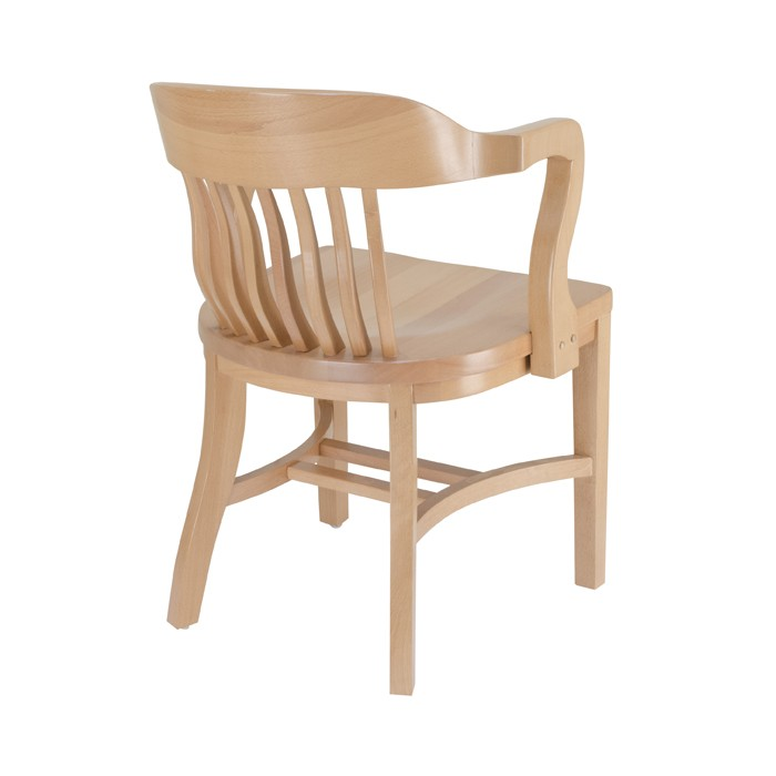 Jury arm chair with wood saddle seat wooden restaurant for Table 66 jury