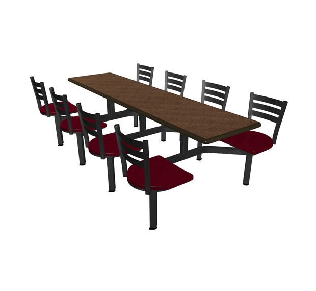 Cebra 8 Seat Island Cluster Seating Unit With Dur A Edge Table Quest Chairheads Plymold