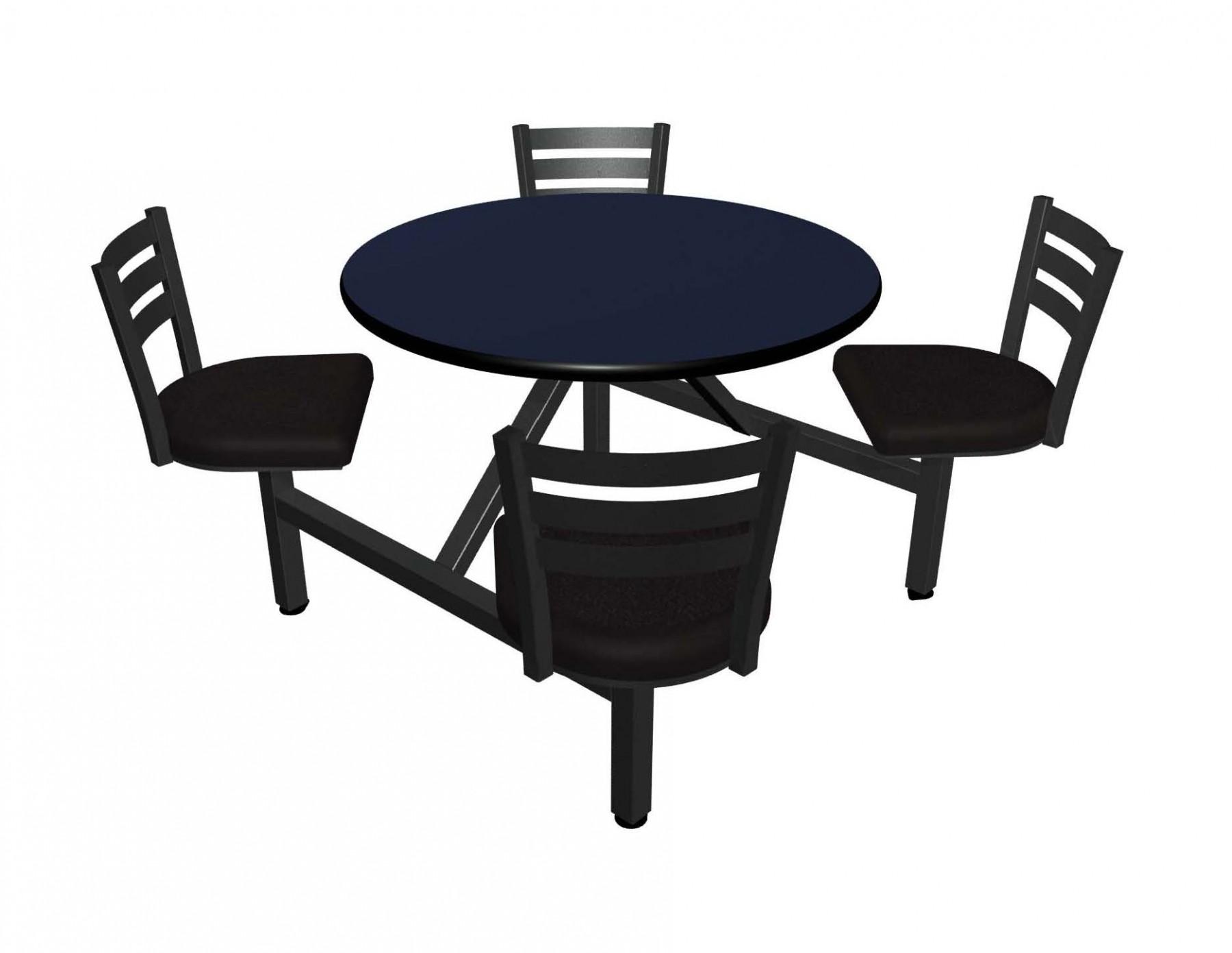 Jupiter 4 Seat Round Unit With Vinyl Edge Table Amp Quest
