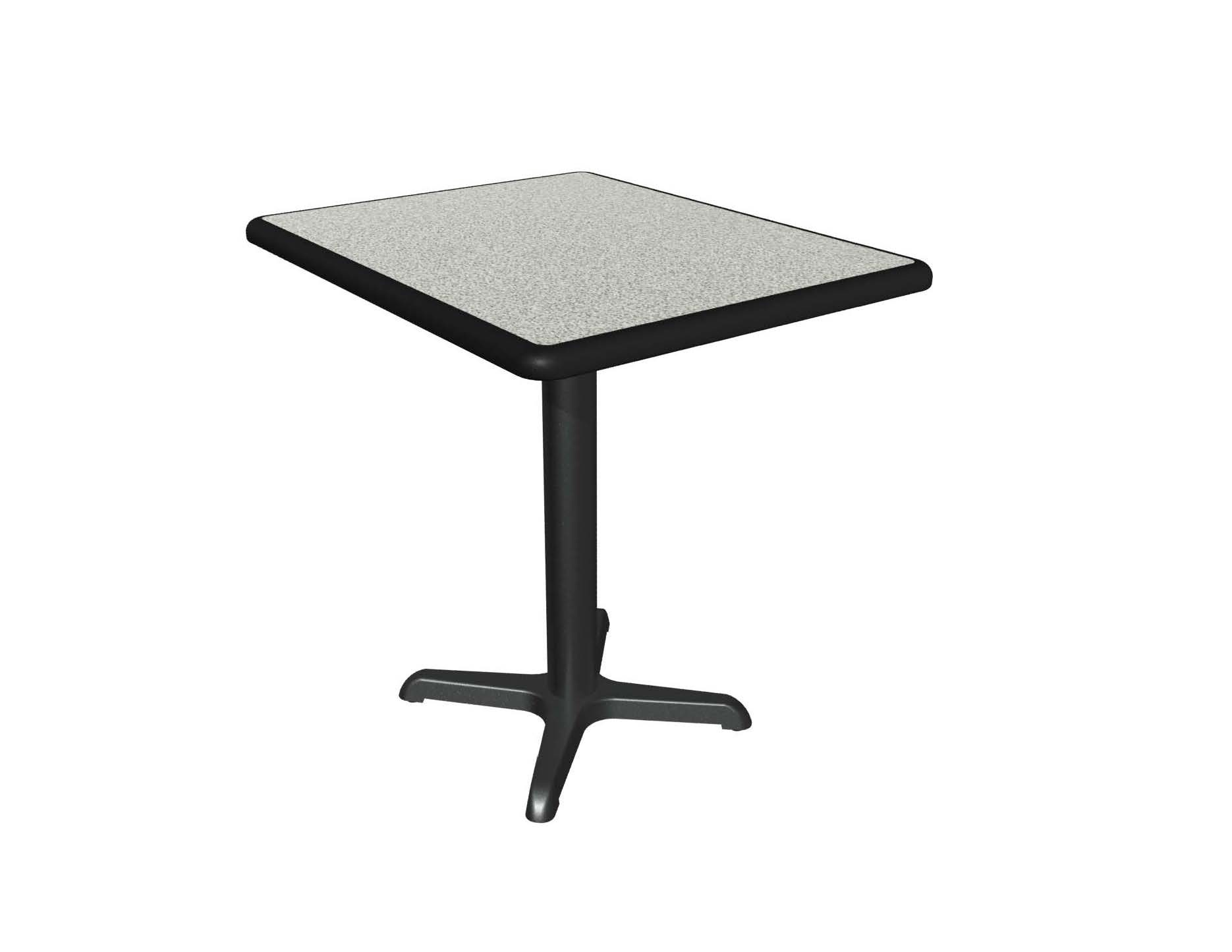 Grey Nebula Laminate Table Top, Black Dur A Edge, Base Sold Separately