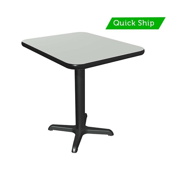 Dove Grey laminate table top, Black vinyl edge