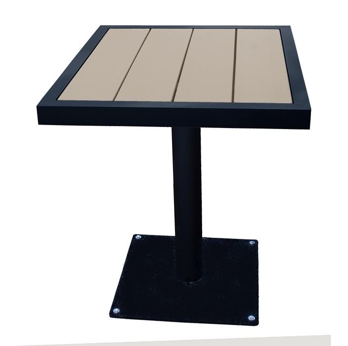 "Aurora 26""x30"" Outdoor Table - Onyx Black Frame"