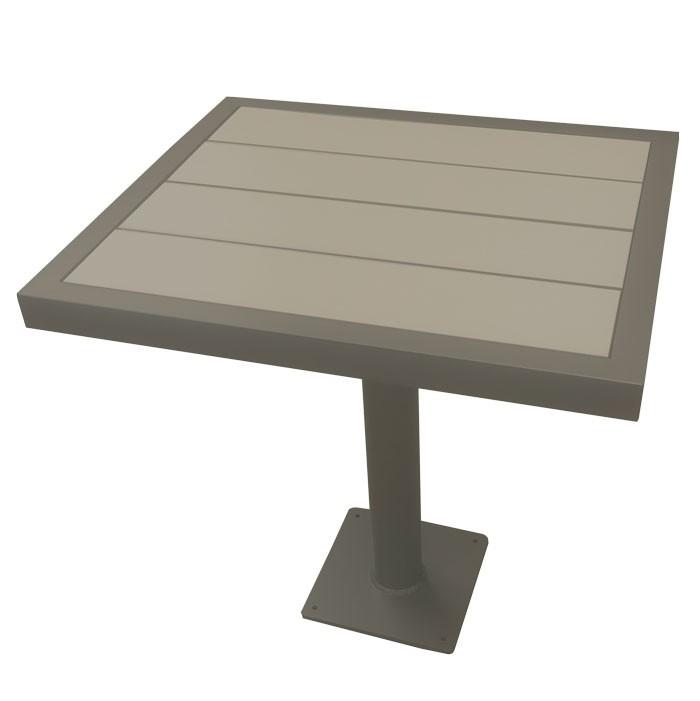 "Aurora 37.5""x37.5"" Outdoor Table - Iron Glimmer Frame"