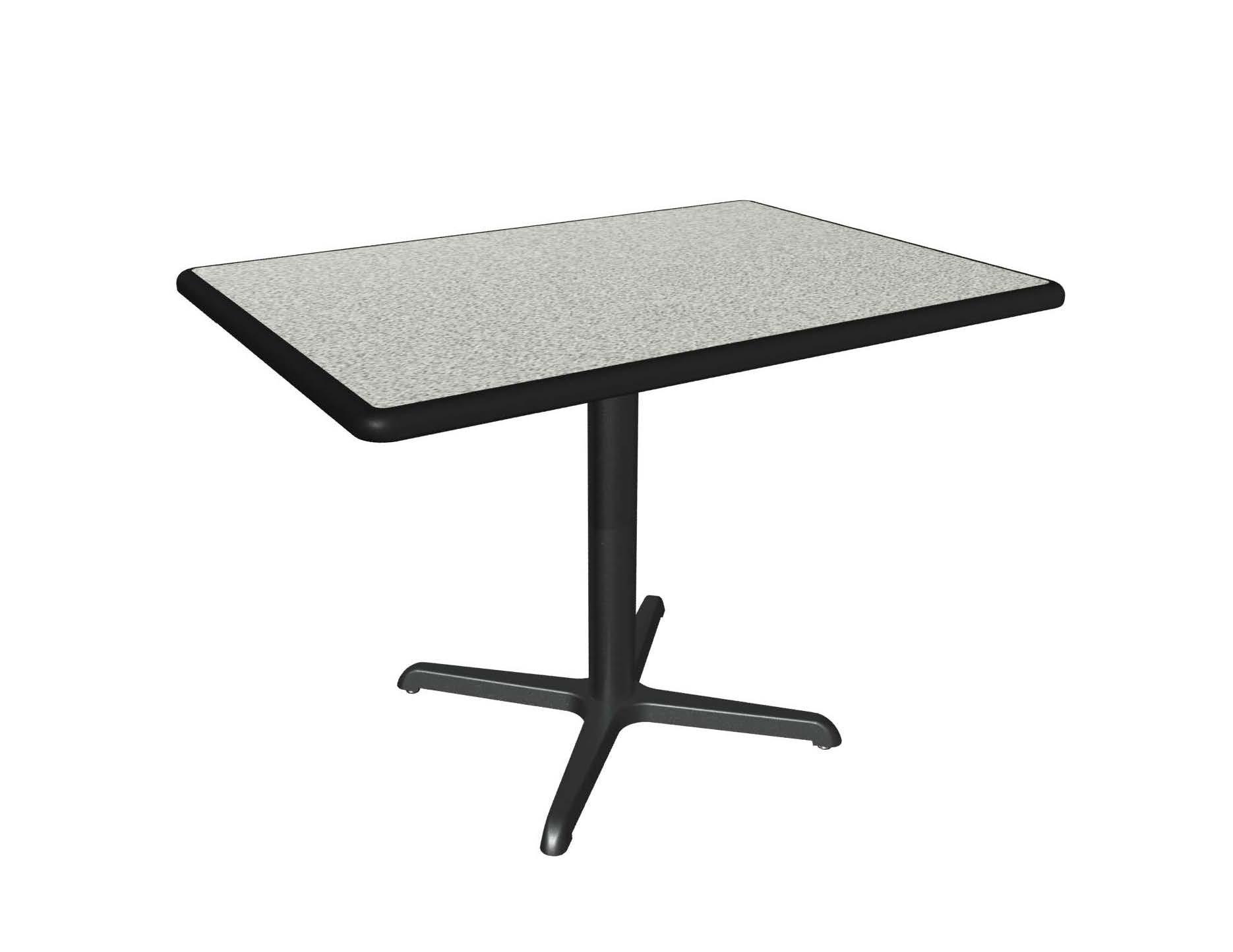 Dove Grey laminate table top, Black Dur-a-Edge