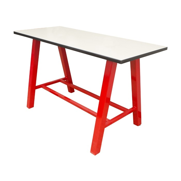Crisp Linen laminate, Black thin profile DAE, red gloss frame