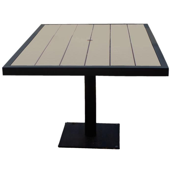 "Aurora 37.5""x37.5"" Outdoor Table - Onyx Black Frame"