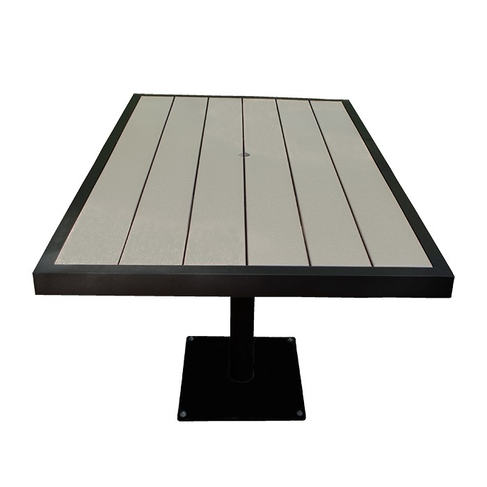 "Aurora 37.5""x57"" Outdoor Table - Onyx Black Frame"