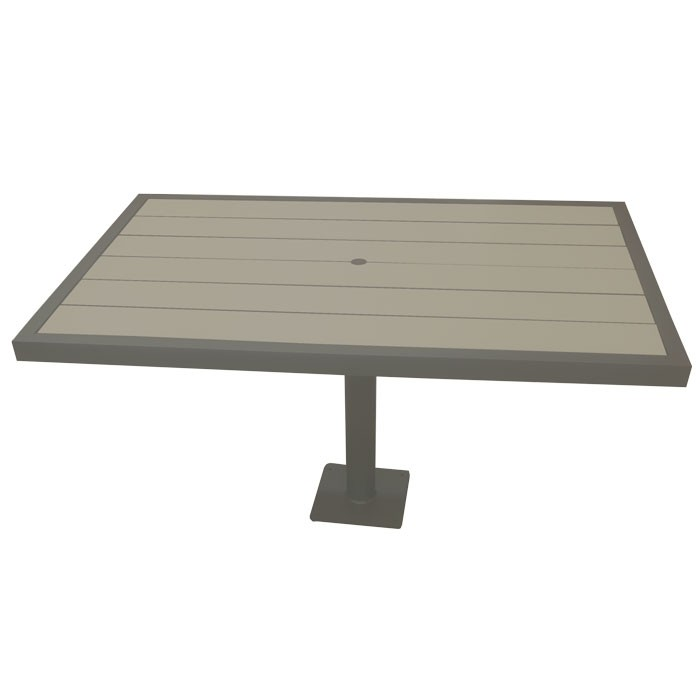 "Aurora 37.5""x57"" Outdoor Table - Iron Glimmer Frame"