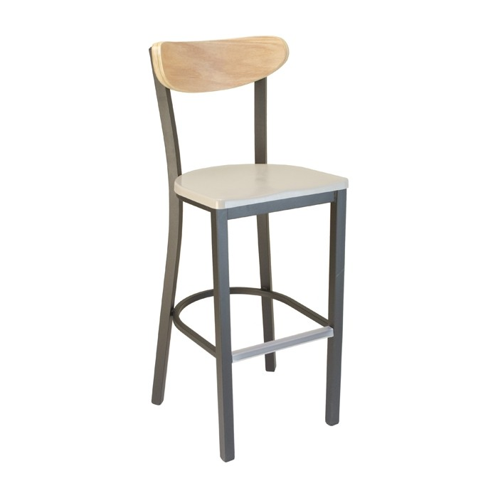 Pleasing Mediterranean Kidneyback Metal Barstool With Composite Seat Ocoug Best Dining Table And Chair Ideas Images Ocougorg