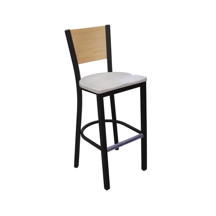 Onyx Black frame, Concrete composite seat, Natural oak back