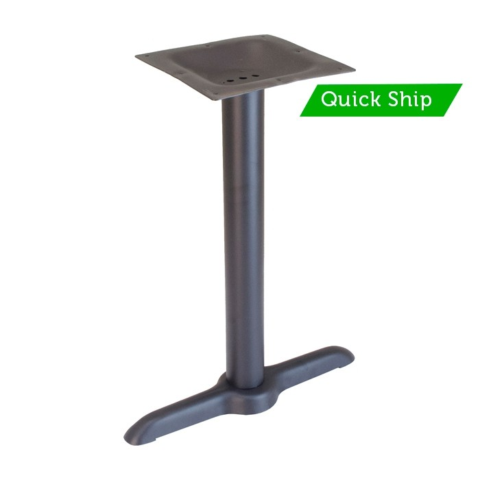 "22"" end base - dining height - Onyx Black"