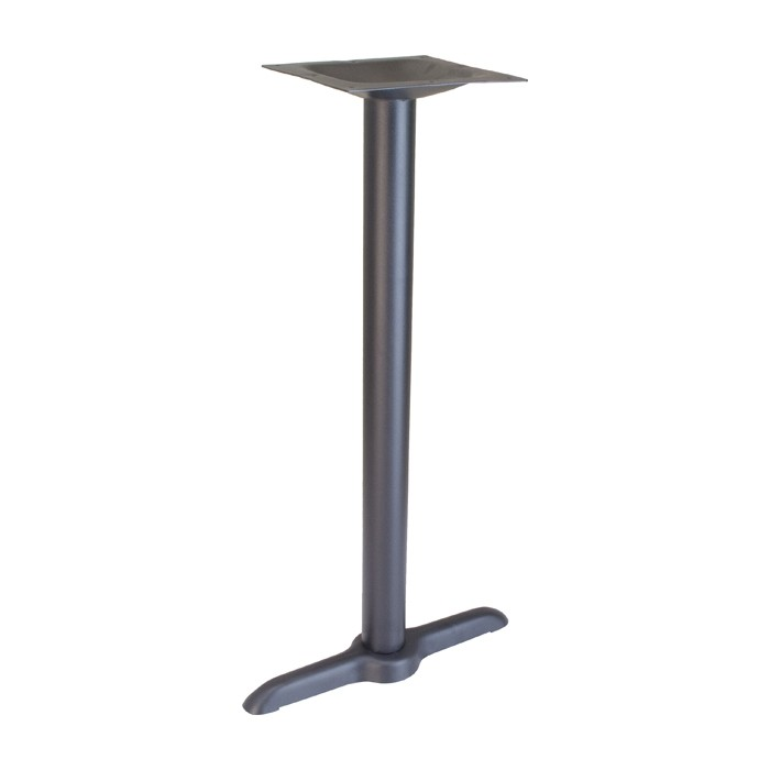 "22"" end table base - bar height - Onyx Black"