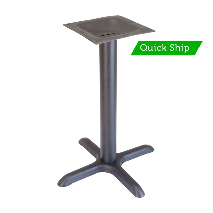 "30""x30""  bar height table base - Onyx Black"