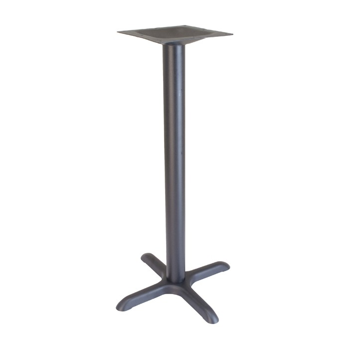 "22""x22"" bar height table base - Onyx Black"