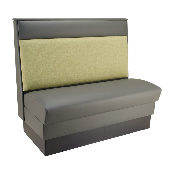 Slate Grey vinyl  seat & headroll - Willow fabric lower back - single shown