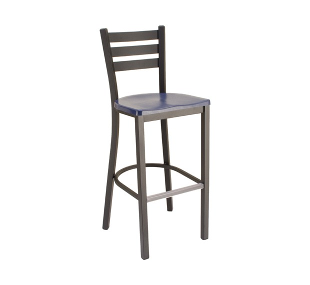 Atlantis Composite Seat, Onyx Black Frame Commercial Restaurant Barstool