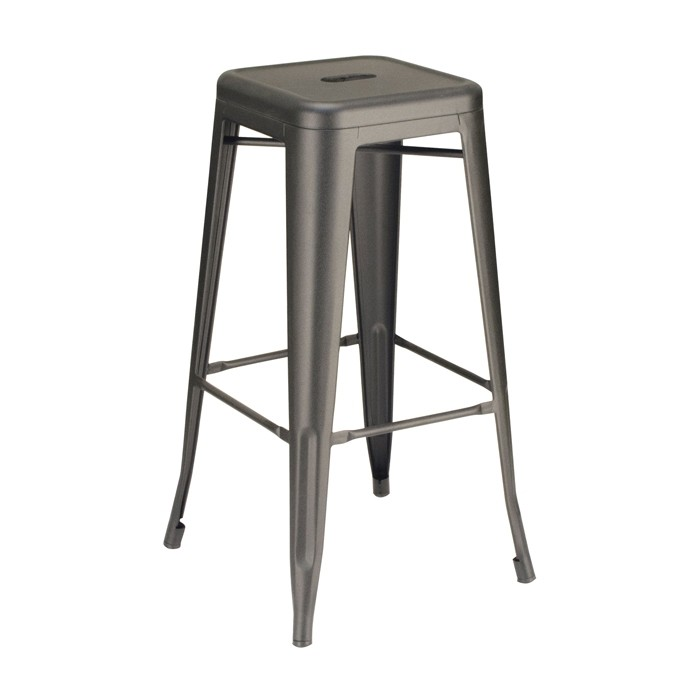 Calais Metal Backless Barstool - Black