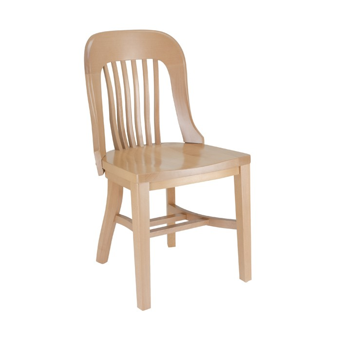 Jury Side Chair with Wood Saddle Seat