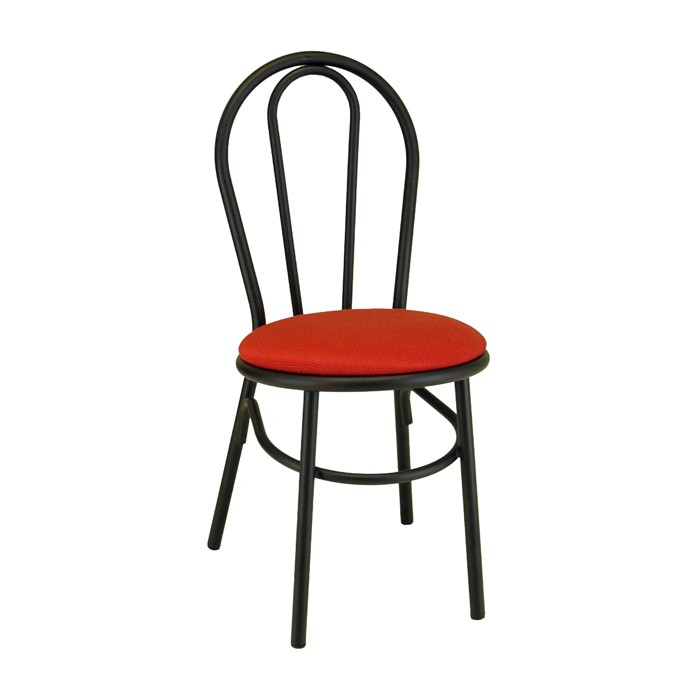 Loopback Metal Parlor Chair With Upholstered Seat | Metal Restaurant Chairs  | Plymold Essentials