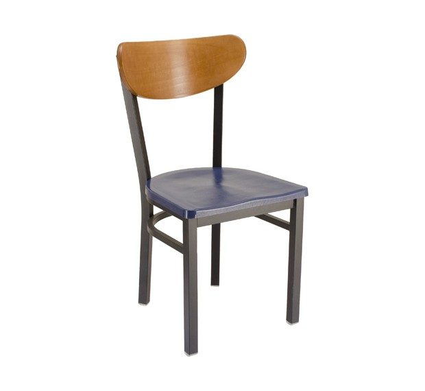 Fawn stain, Atlantis composite seat, Onyx Black frame Restaurant Chair