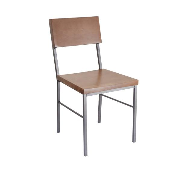 Cherry Stain, Pewter Frame Aspen Chair for Restuarants & Bars