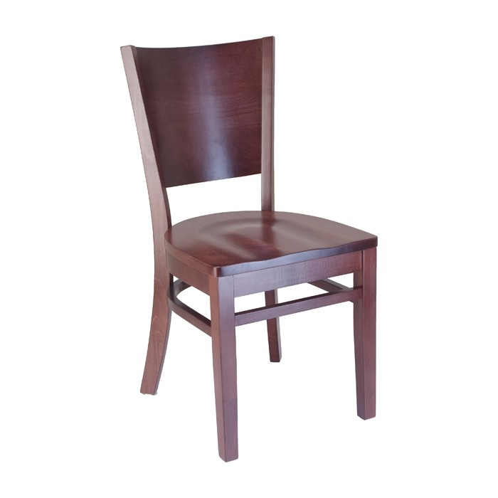 Keystone Wood Chair With Saddle Seat