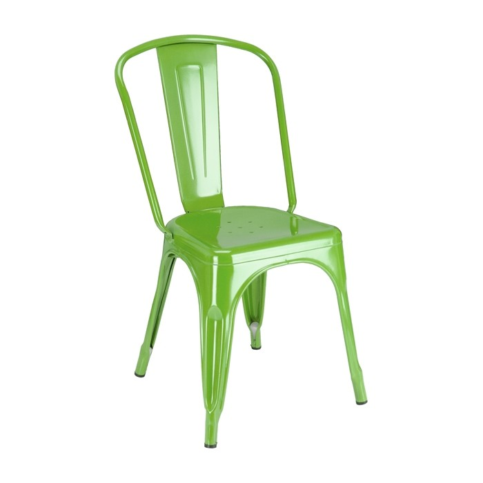 Calais Metal Dining Chair - Green