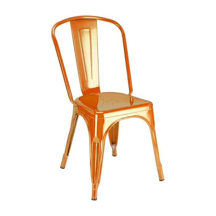 Calais Metal Dining Chair - Orange