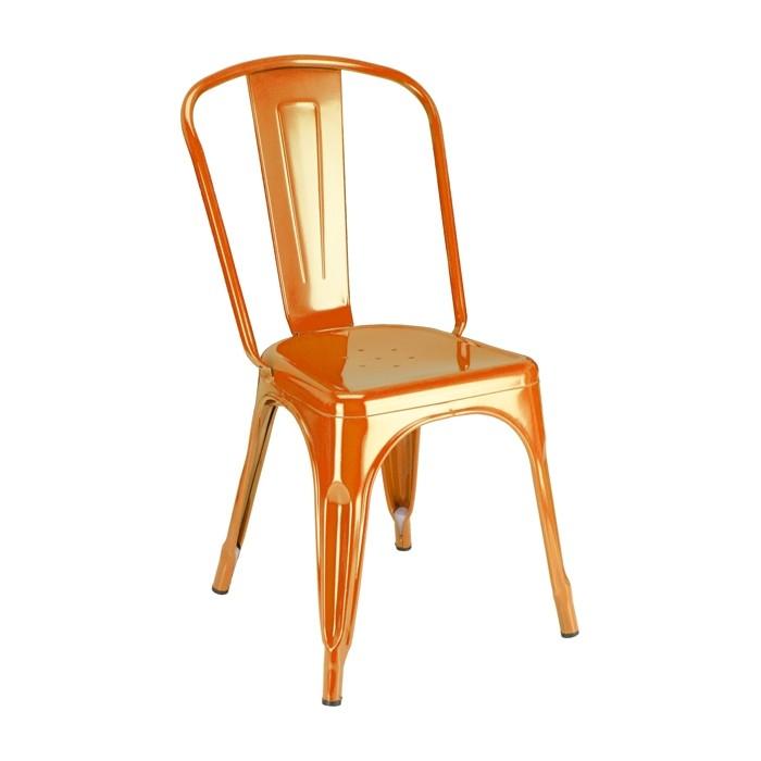 Calais Metal Dining Chair Orange