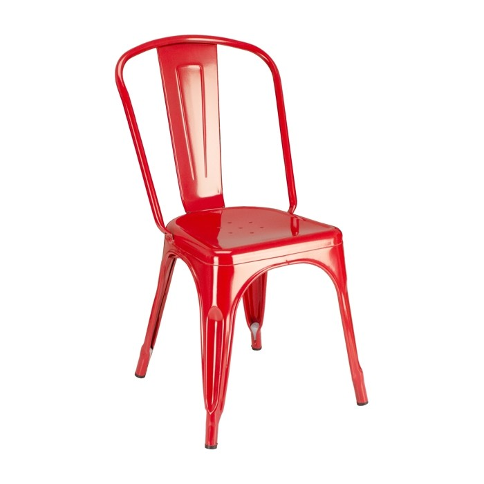 Paris Metal Chair - Red