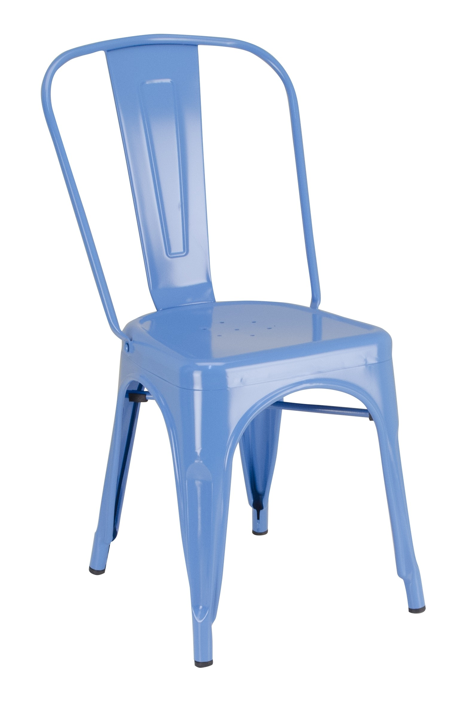 Calais Metal Dining Chair - Blue