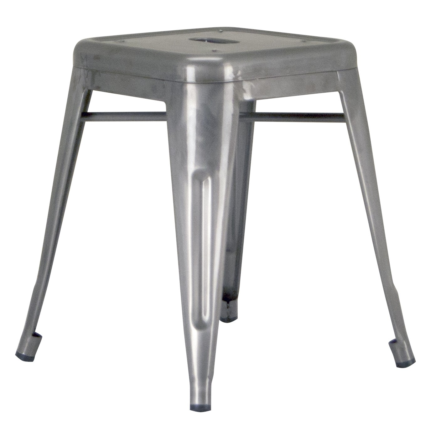 Calais Metal Dining Stool - Matte Clear Coat
