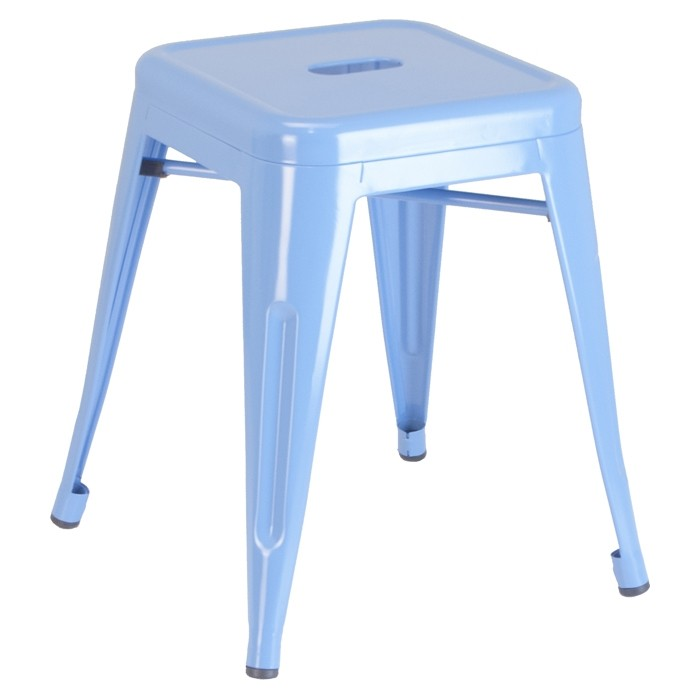 Calais metal dining stool - blue