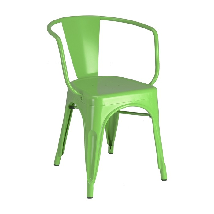 Calais arm chair - front angle - green