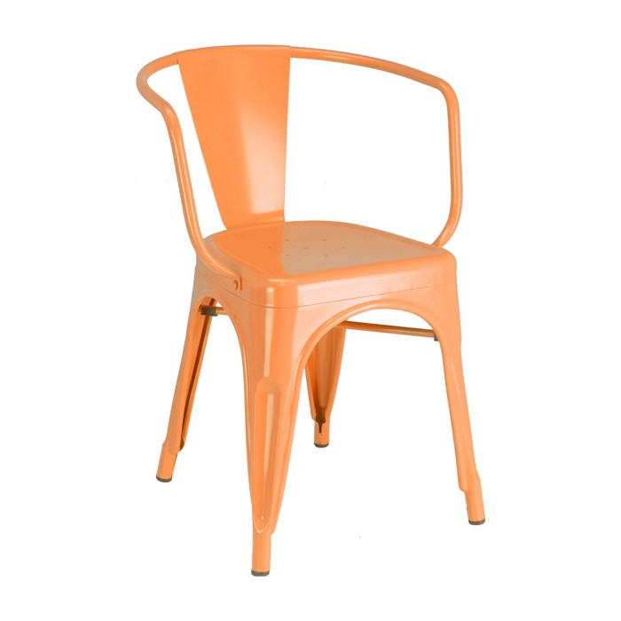 Orange Calais arm chair - front angle