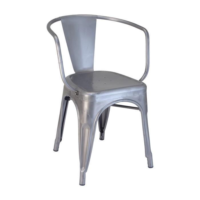 Calais Metal Arm Chair - Matte Clear Coat