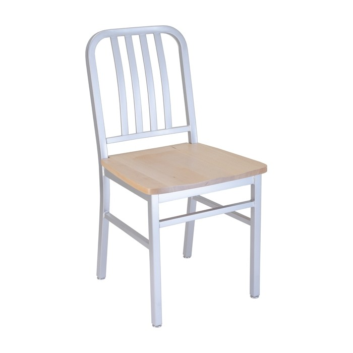 Silver Bullet frame with natural beech seat, front angle