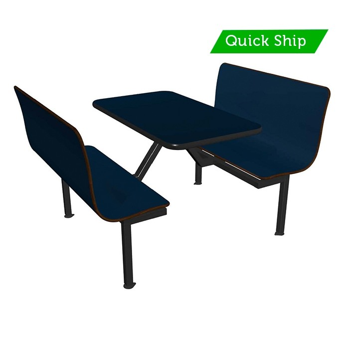 Atlantis bench, Atlantis table top, Black vinyl edge