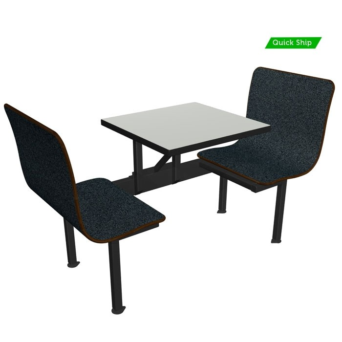 """23"""" Contour Unit with Graphite Nebula bench and Dove Grey Table"""
