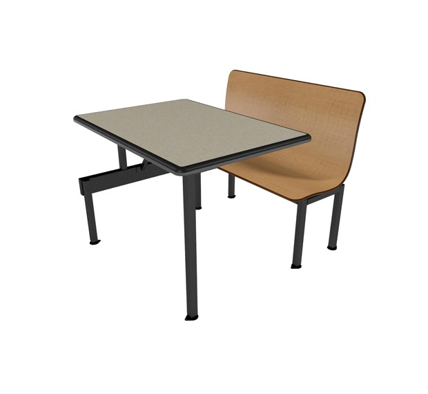 Monticello Maple benches, Bronze Legacy table top with Black Dur-A-Edge®