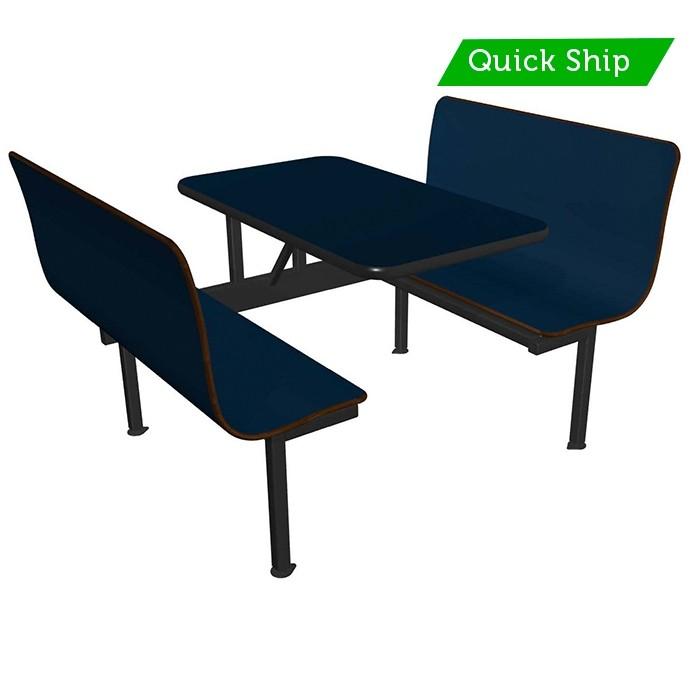 Atlantis bench, Atlantic table, Black vinyl edge