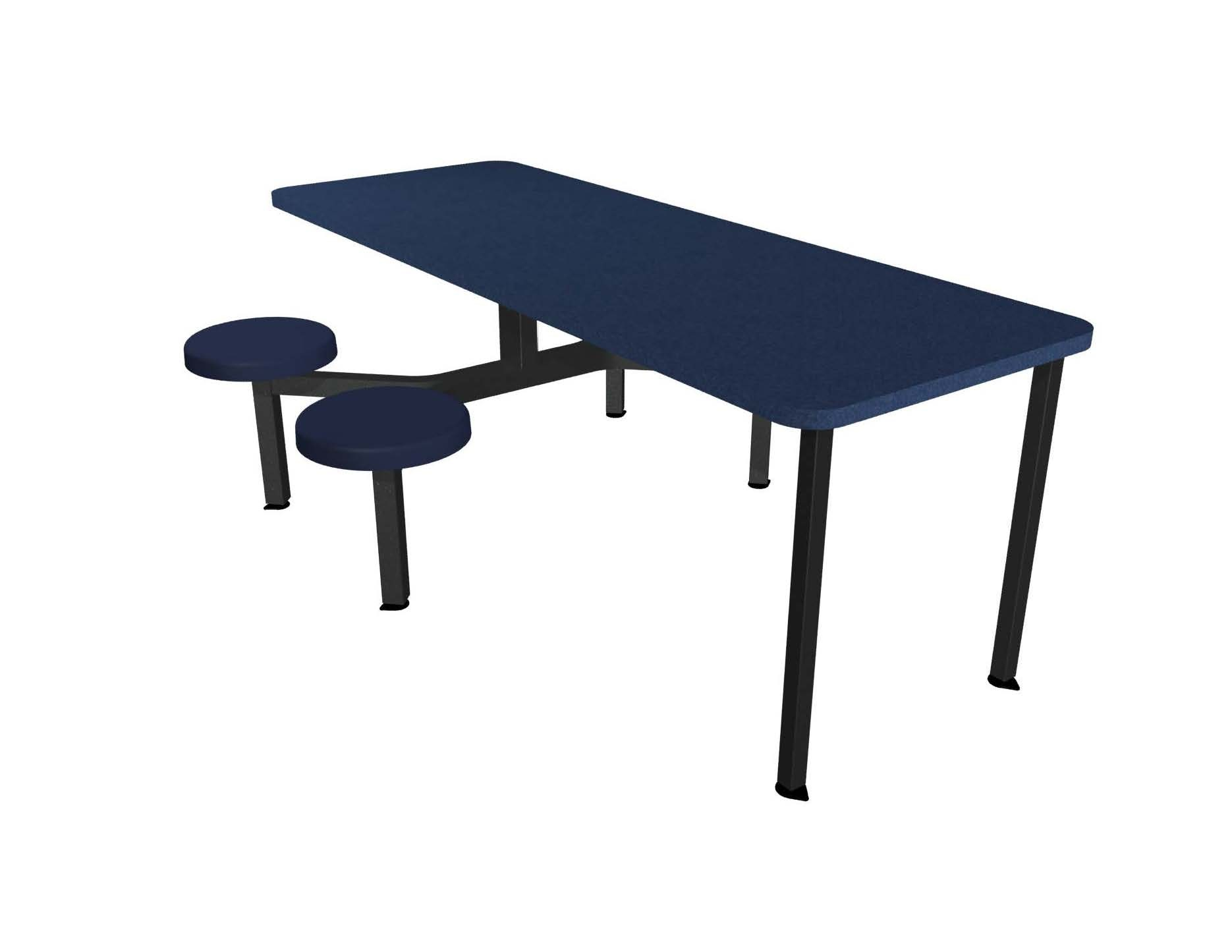 Cebra Seat ADA Unit With Laminate Self Edge Table Composite - Ada restaurant table