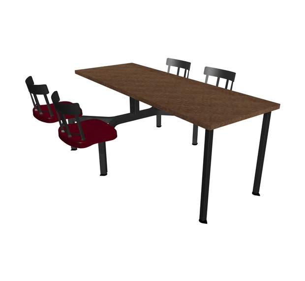 Cebra Seat ADA Unit With Laminate Self Edge Table Country - Ada restaurant table