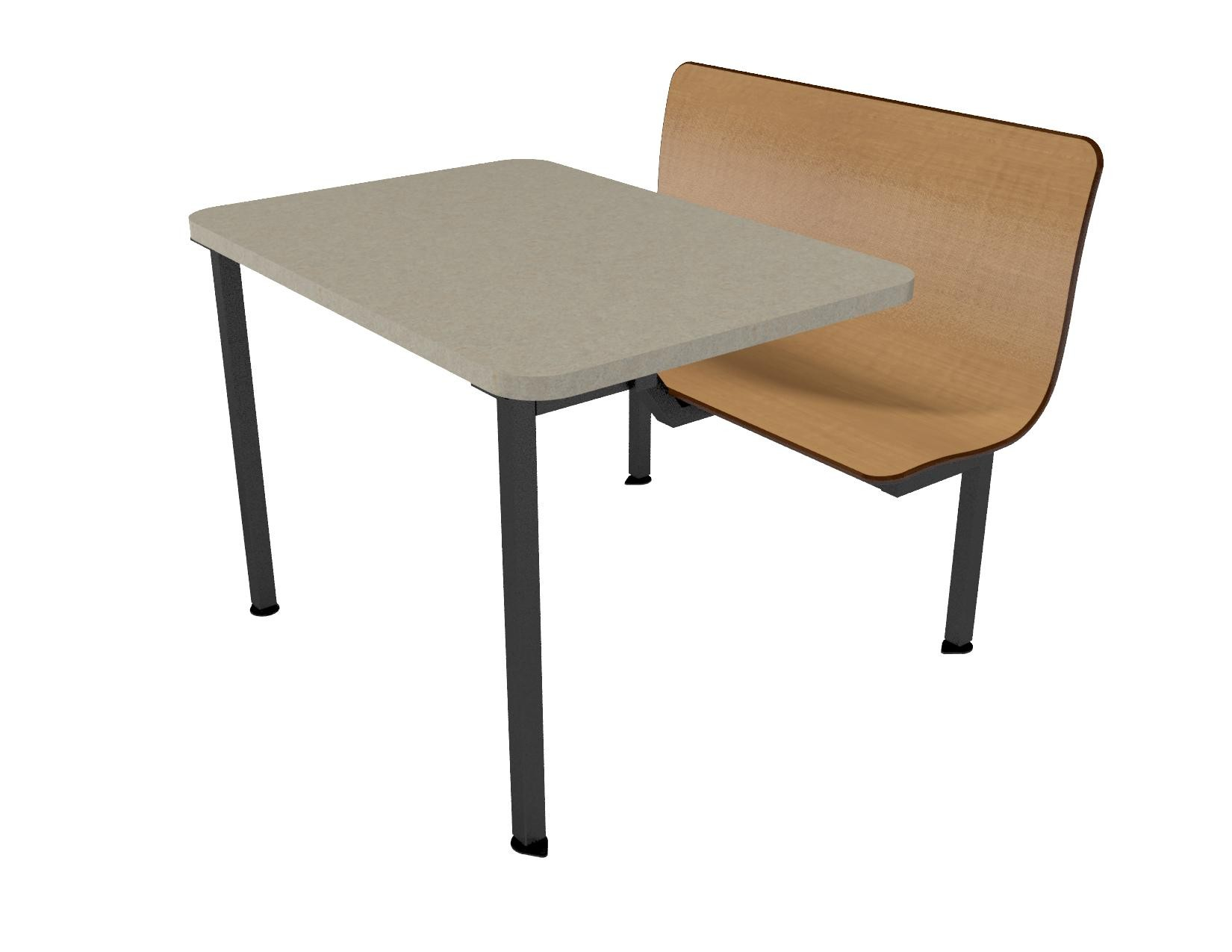 Contour ADA Island Unit With Laminate Self Edge Table - Ada restaurant table