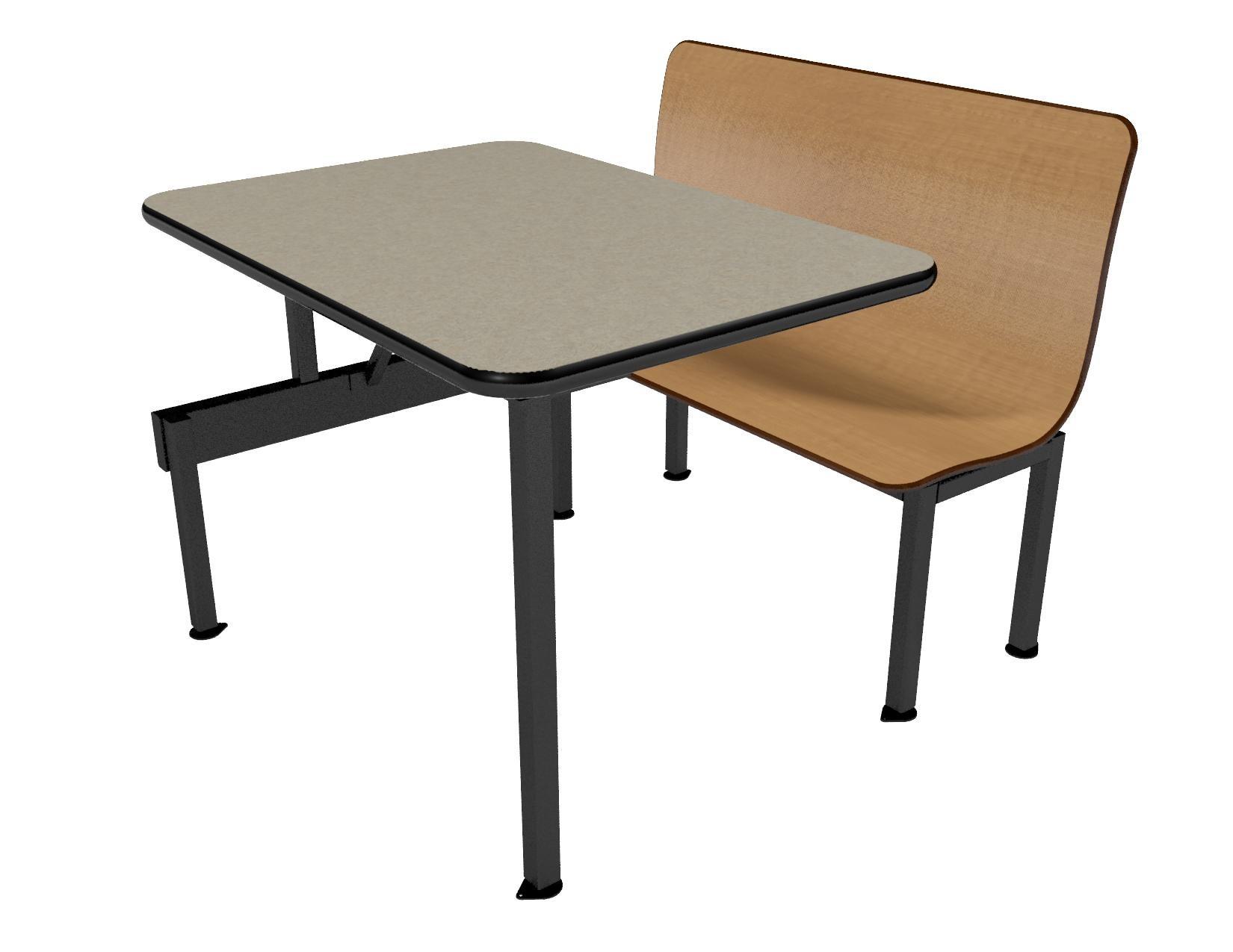 Monticello Maple benches, Bronze Legacy table top with Black Vinyl Edge