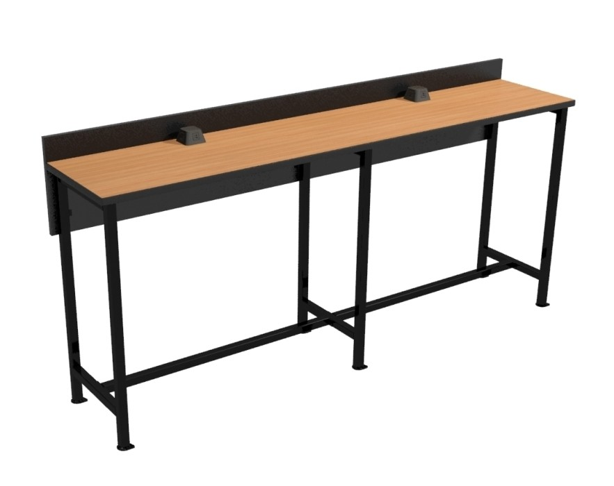 "Powered Dining Counter - 96"" Long Bar Height"