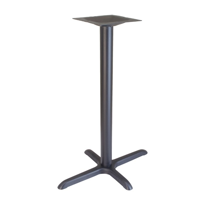 "22""x30"" bar height table base - Onyx Black"