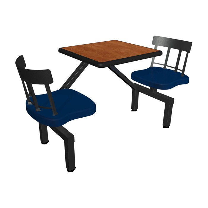 Wild Cherry table top, Black Dur-A-Edge®, Country chairhead with Atlantis composite seat