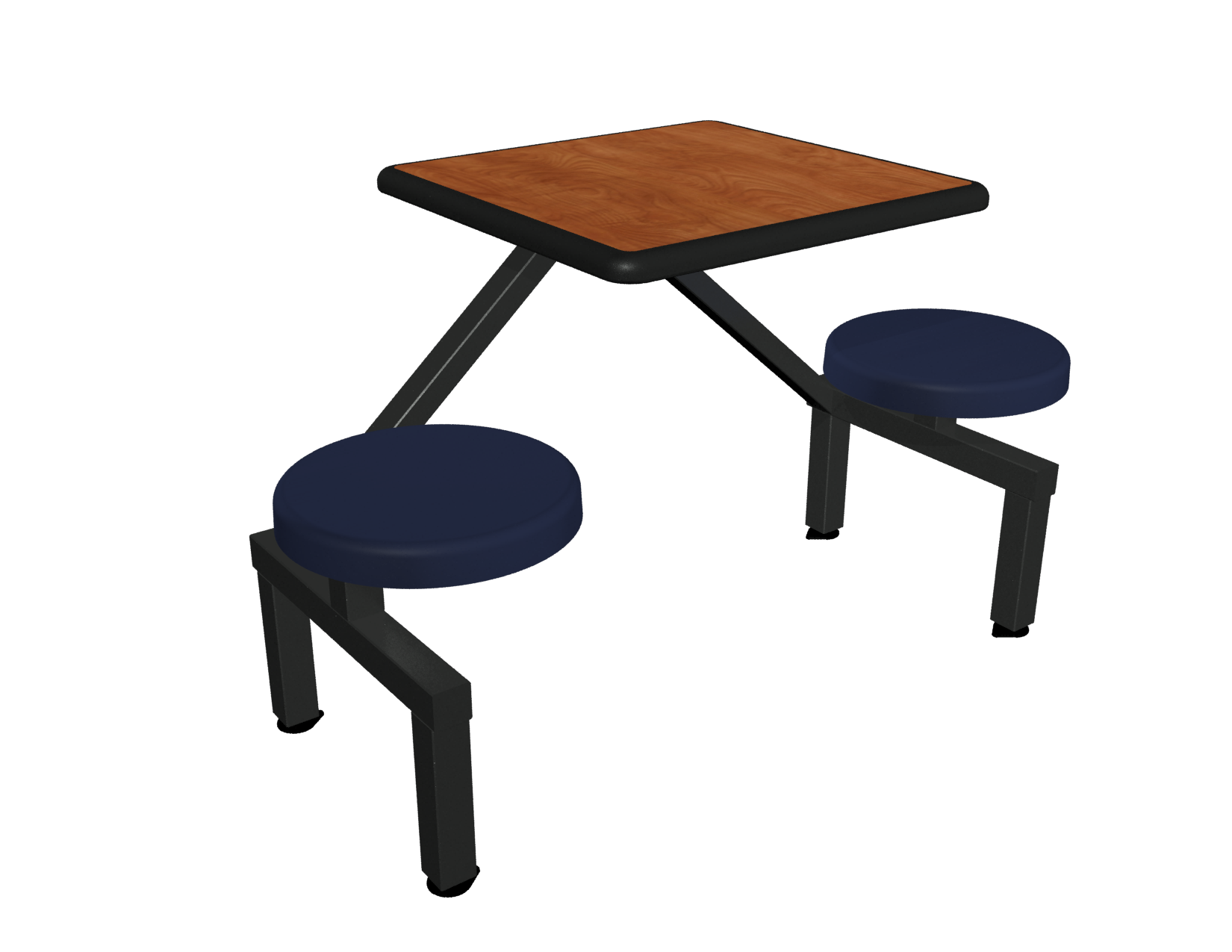 Jupiter Two Seat with Wild Cherry laminate Black Dur-A-Edge table and Atlantis composite seat
